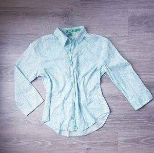 Tibi 100% Cotton Button Down Blouse